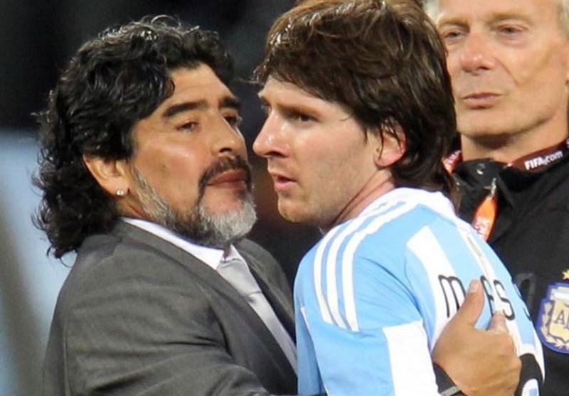 فوتبال دنیا، حمله عجیب دیه گو مارادونا به لیونل مسی!