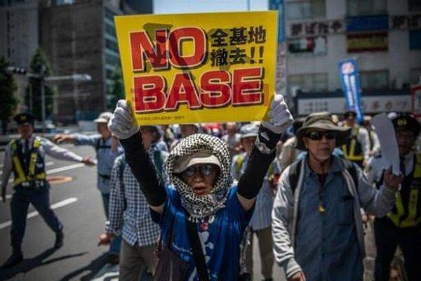 تظاهرات ضد آمریکایی در ژاپن همزمان با سفر ترامپ