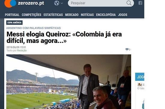 تمجید مسی از کی روش در آستانه بازی با کلمبیا