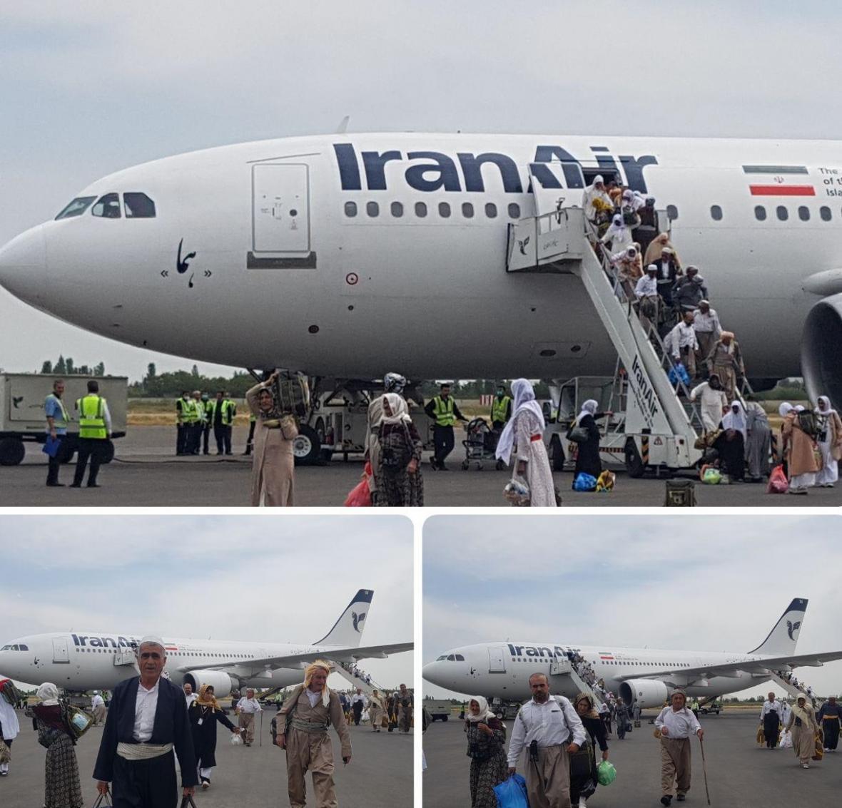 اولین گروه حجاج آذربایجان غربی وارد فرودگاه ارومیه شدند