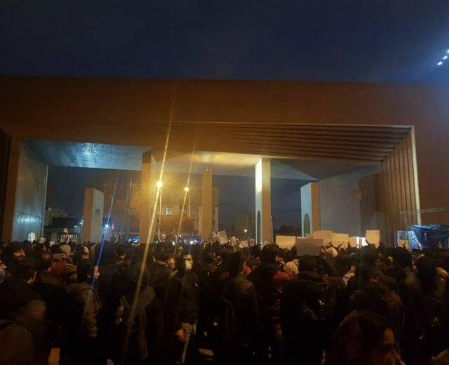 تجمع اعتراضی عصر امروز دانشجویان شریف و امیرکبیر