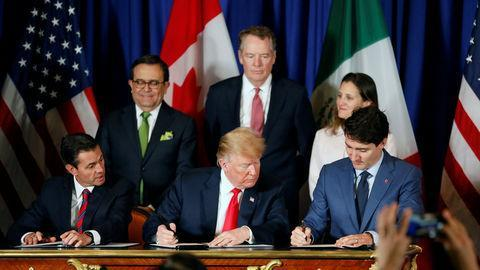 آمریکا قرارداد تجاری نفتا جدید را با کانادا و مکزیک امضاء کرد
