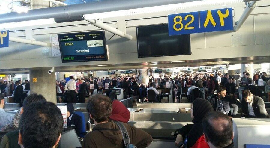 پروازهای ایران به 4 کشور به دلیل شیوع کرونا در ایران لغو شد