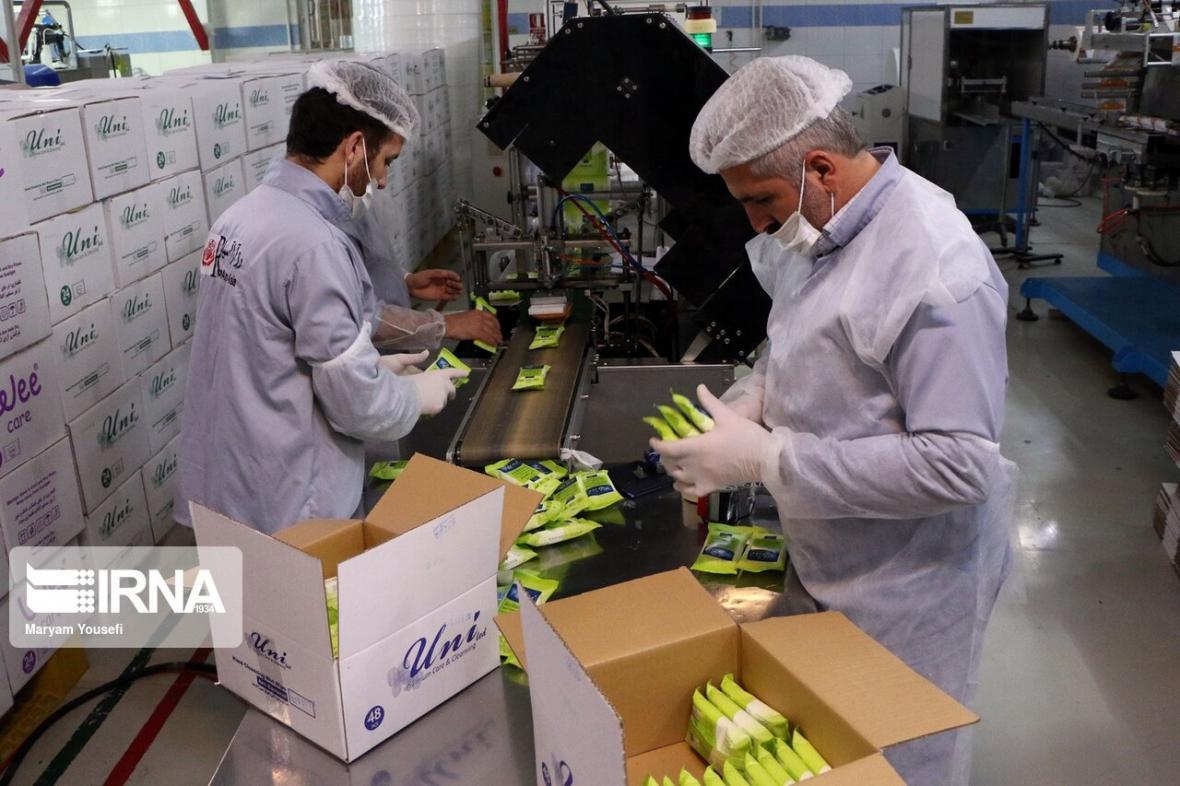خبرنگاران فعالیت خط تولید مواد ضدعفونی در قزوین به 32 واحد افزایش یافت