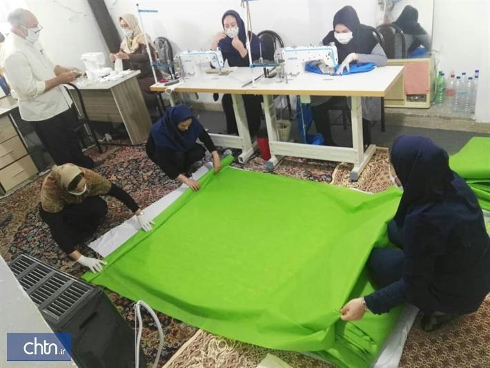 دوخت 10هزار ماسک و کاور بهداشتی توسط هنرمندان گلستانی