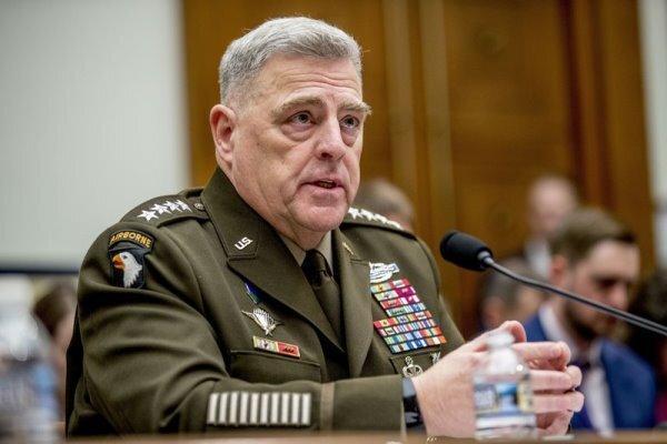 رئیس ستاد مشترک ارتش آمریکا خود را قرنطینه کرد