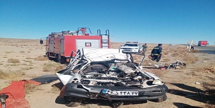 تصادف در محور نهبندان- بیرجند یک کشته برجا گذاشت
