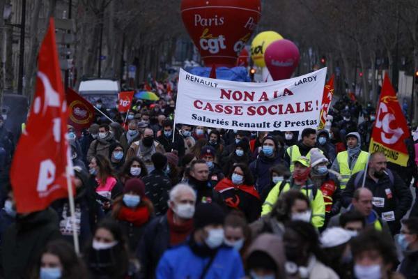 موج تازه اعتراض ها به پیامدهای بحران کرونا در فرانسه
