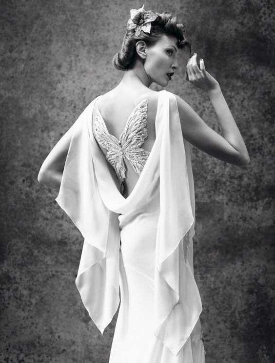 جدیدترین انواع مدل لباس عروس پروانه ای