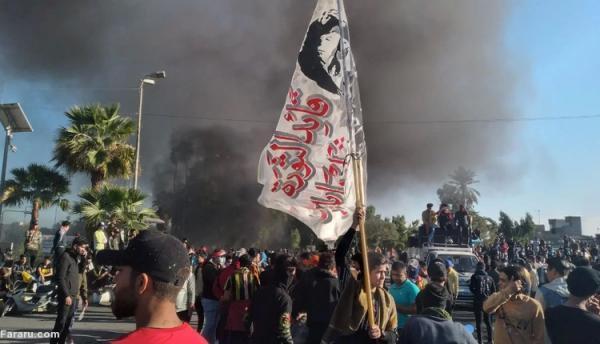 (ویدئو) اعتراضات خشونت بار در نجف