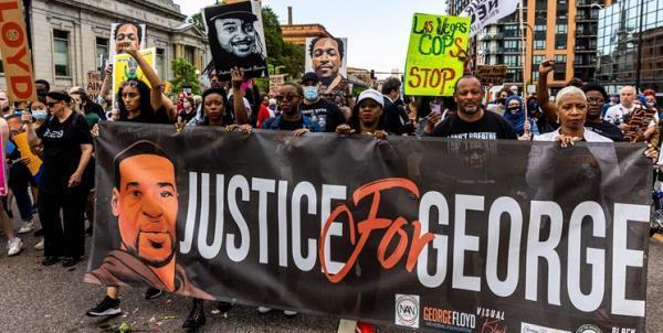 تجمع و راهپیمایی به مناسبت اولین سالگرد قتل فلوید در مینیاپولیس