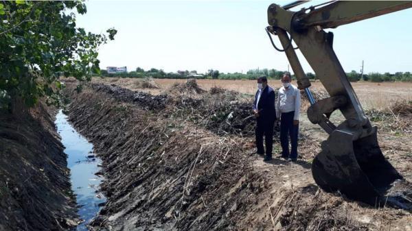 لایروبی 40 کیلومتری کانال های آبیاری در جویبار